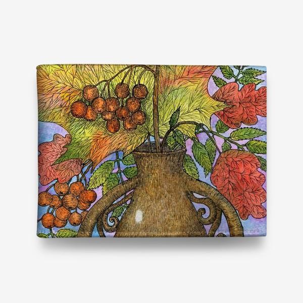 Кошелек «Осенний букет из листьев и ягод»