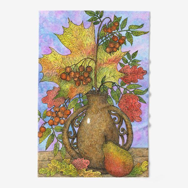 Полотенце «Осенний букет из листьев и ягод»