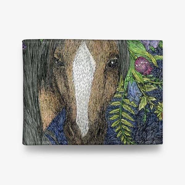 Кошелек «Лошадь и цветы»