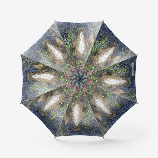 Зонт «Лошадь и цветы»