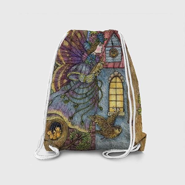 Рюкзак «Фея и плюшевый кролик»