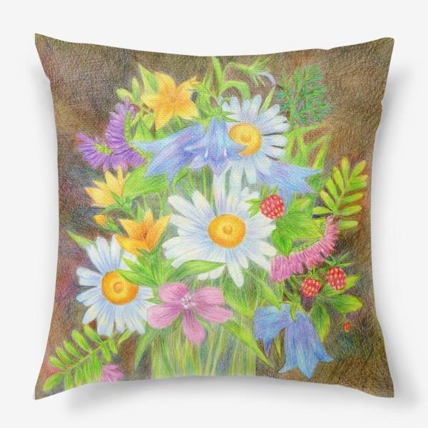 Подушка «Букет полевых цветов »