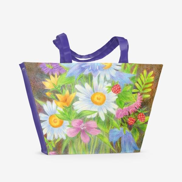 Пляжная сумка «Букет полевых цветов »