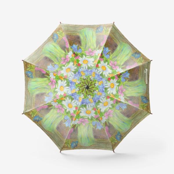 Зонт «Букет полевых цветов »