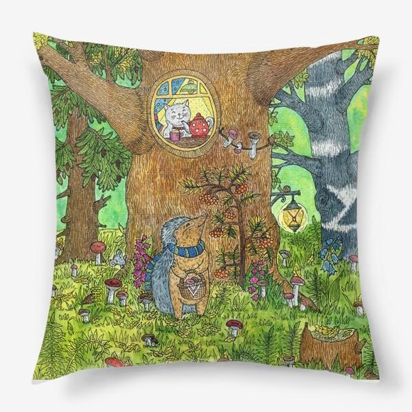 Подушка «Маленький ежик в волшебном лесу»