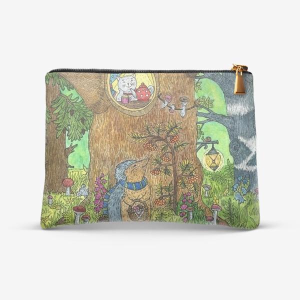 Косметичка «Маленький ежик в волшебном лесу»