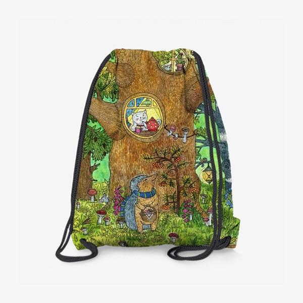 Рюкзак «Маленький ежик в волшебном лесу»