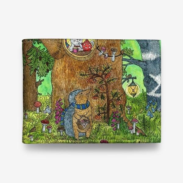 Кошелек «Маленький ежик в волшебном лесу»