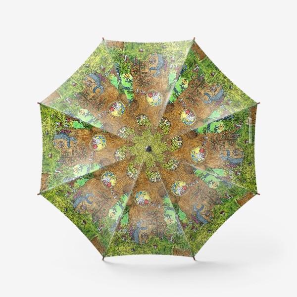 Зонт «Маленький ежик в волшебном лесу»