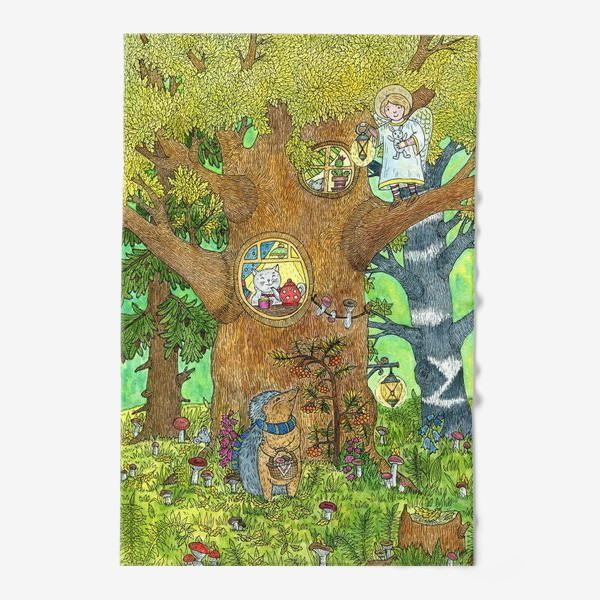 Полотенце «Маленький ежик в волшебном лесу»