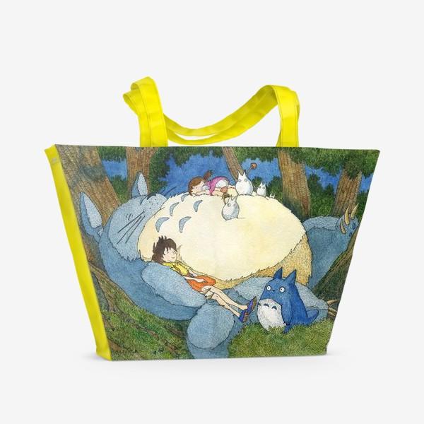 Пляжная сумка «Мой сосед Тоторо»