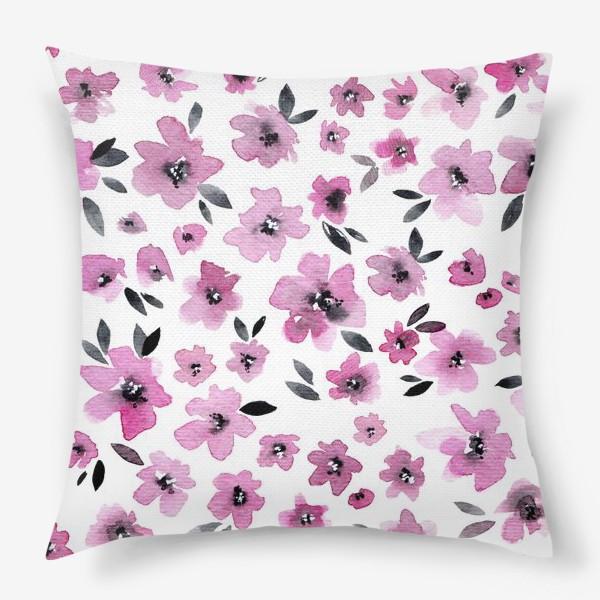 Подушка «Розовые цветы»