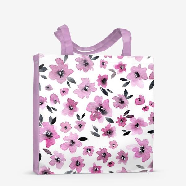 Сумка-шоппер «Розовые цветы»