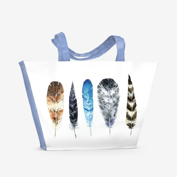 Пляжная сумка «Пять красивых перьев»
