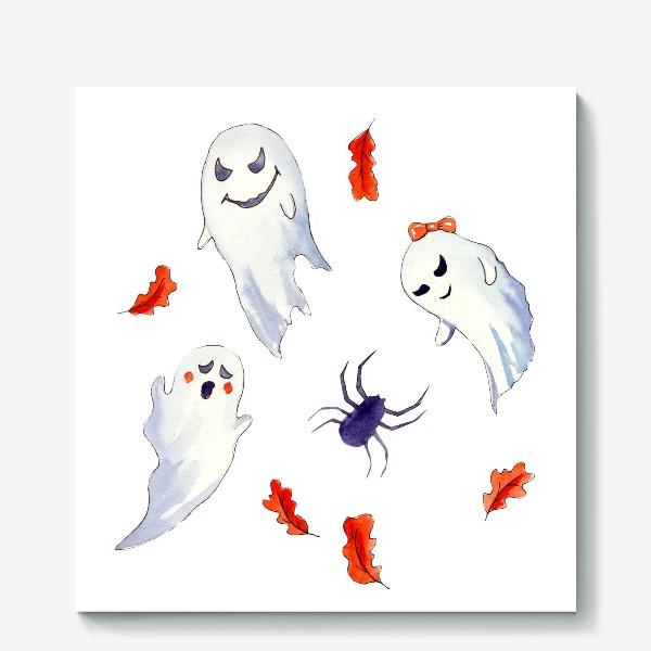 Холст «Милые приведения на Хэллоуин »