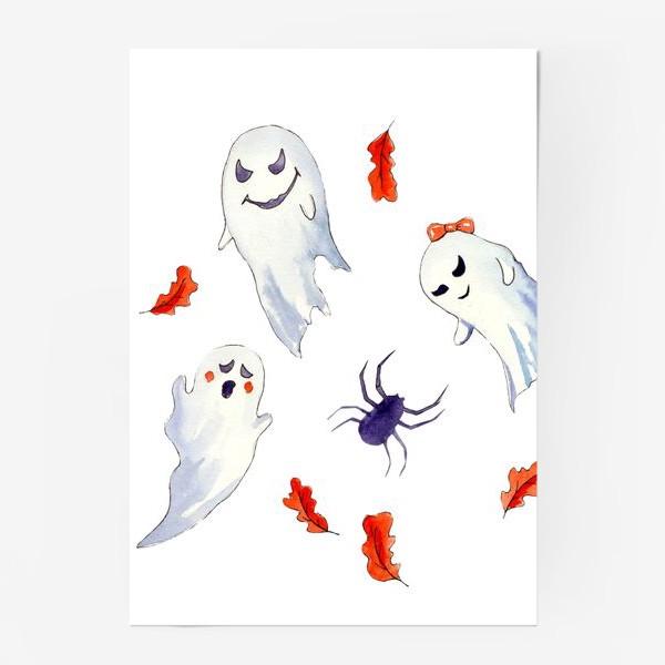 Постер «Милые приведения на Хэллоуин »