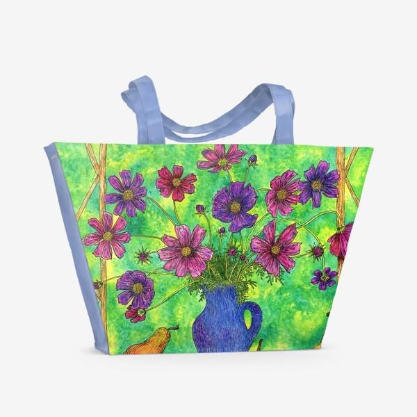 Пляжная сумка «Космея букет»