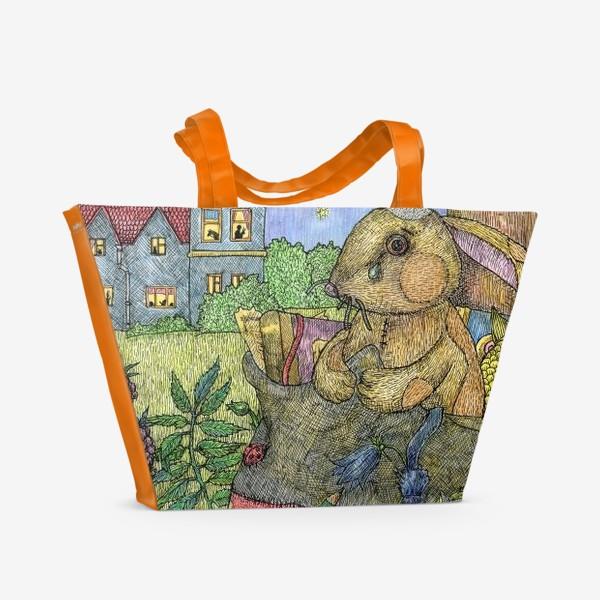 Пляжная сумка «Плюшевый кролик»