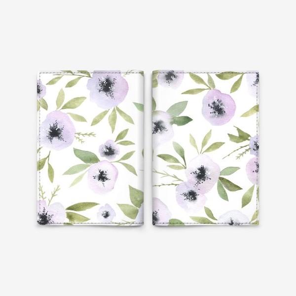 Обложка для паспорта «Белые цветы»