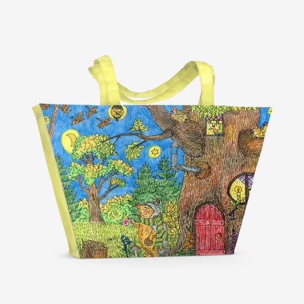 Пляжная сумка «Маленький ежик »