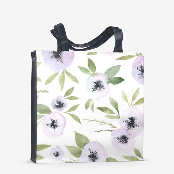 Сумка-шоппер «Белые цветы»