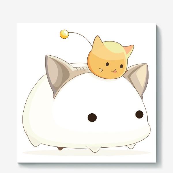 Холст «Кавайный кот»