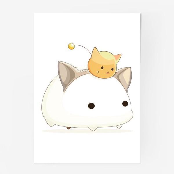 Постер «Кавайный кот»