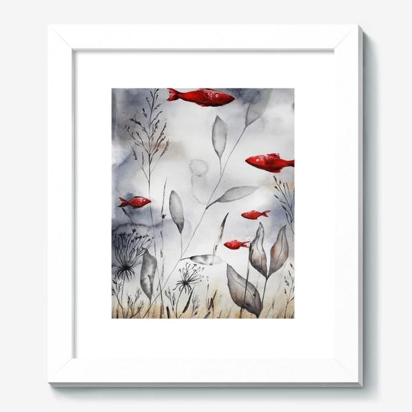 Картина «Красные рыбки»