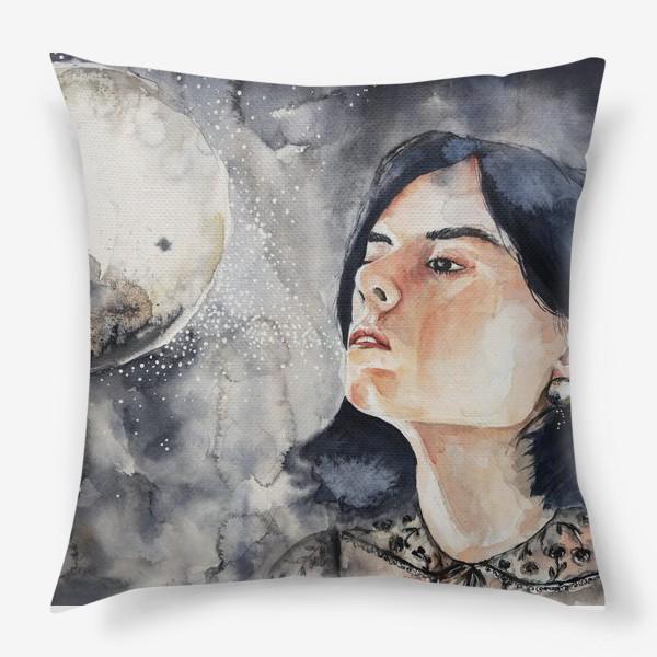 Подушка «Ночь. Акварель »