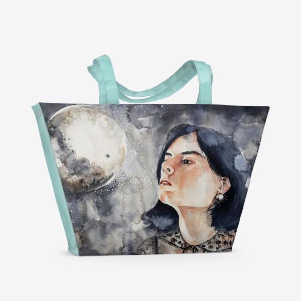 Пляжная сумка «Ночь. Акварель »