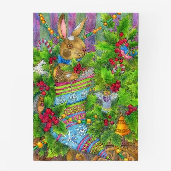 Постер «Заяц в подарок на Новый год»