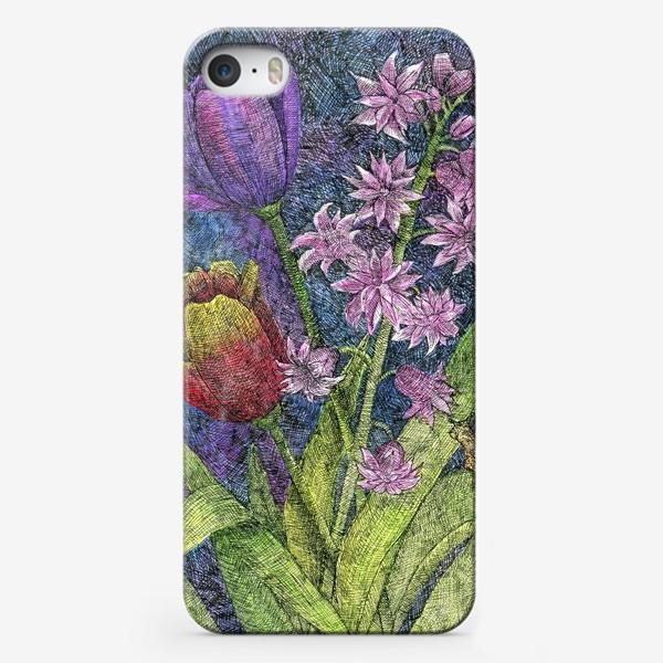 Чехол iPhone «Тюльпаны и гиацинт»