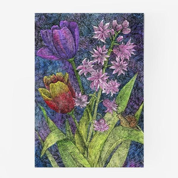 Постер «Тюльпаны и гиацинт»