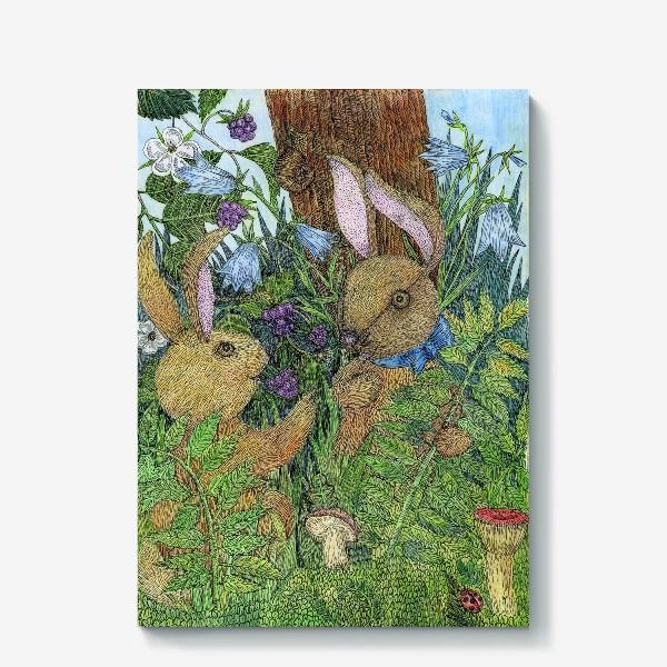 Холст «Кролики»