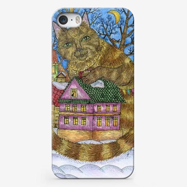 Чехол iPhone «Большая сказочная кошка»