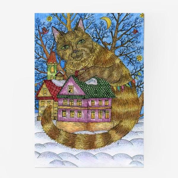Постер «Большая сказочная кошка»