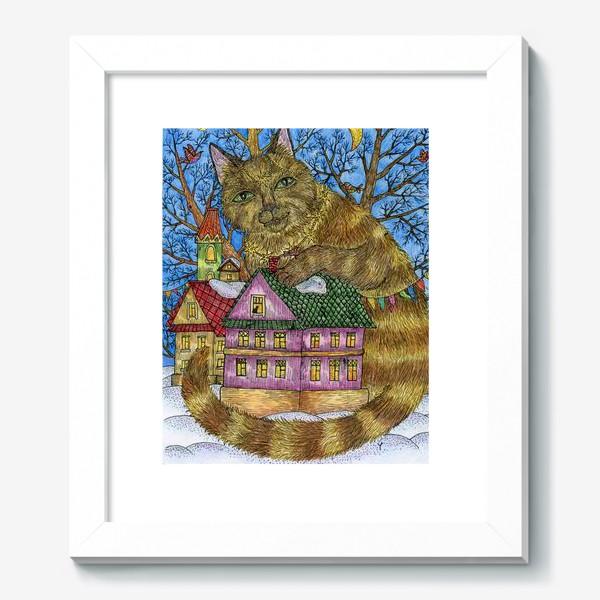 Картина «Большая сказочная кошка»