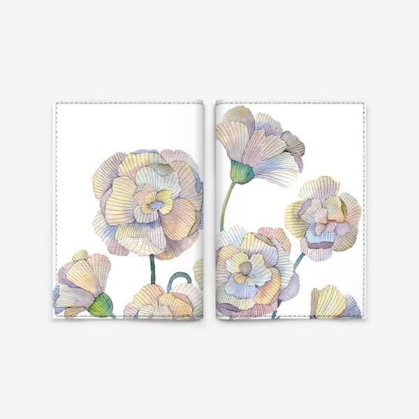 Обложка для паспорта «Белые маки»