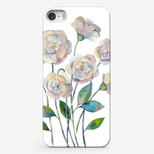 Чехол iPhone «Белые маки»