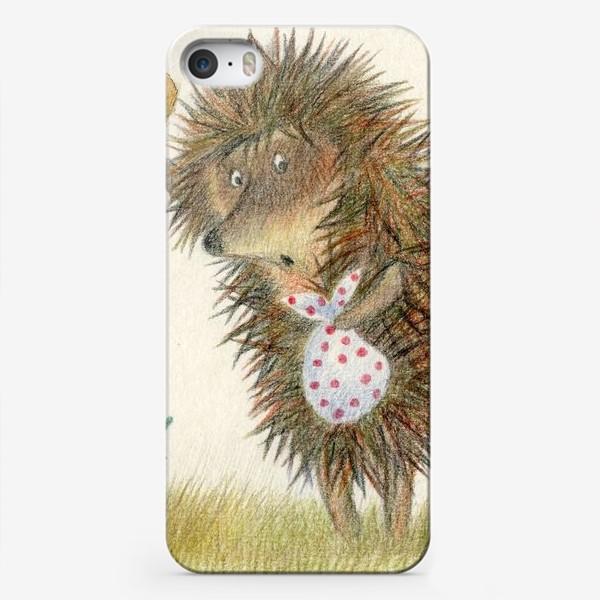 Чехол iPhone «Ежик в тумане, листок и улитка»