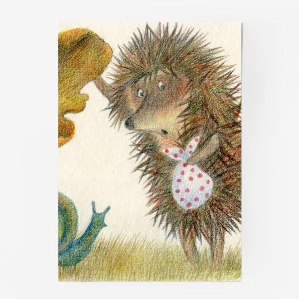 Постер «Ежик в тумане, листок и улитка»