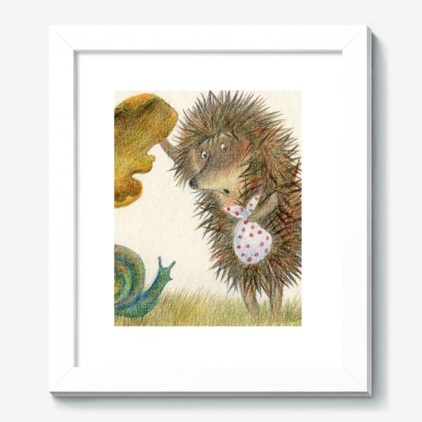 Картина «Ежик в тумане, листок и улитка»