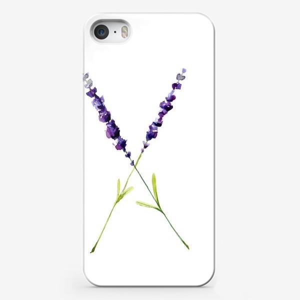 Чехол iPhone «веточки лаванды»
