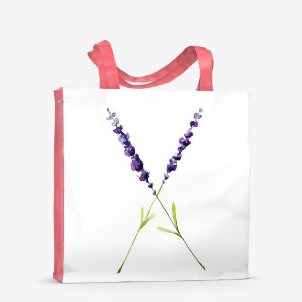 Сумка-шоппер «веточки лаванды»