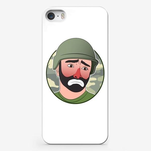 Чехол iPhone «грустный клоун в каске»
