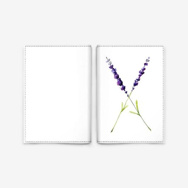 Обложка для паспорта «веточки лаванды»