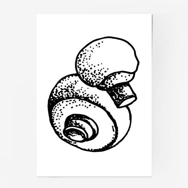 Постер «Вкусный гриб»