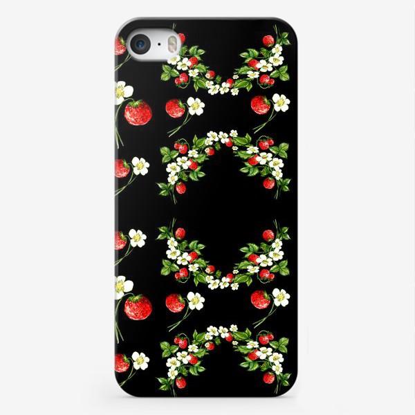 Чехол iPhone «Гламурная клубника»
