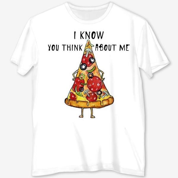 Футболка с полной запечаткой «Уверенная в себе Пицца »