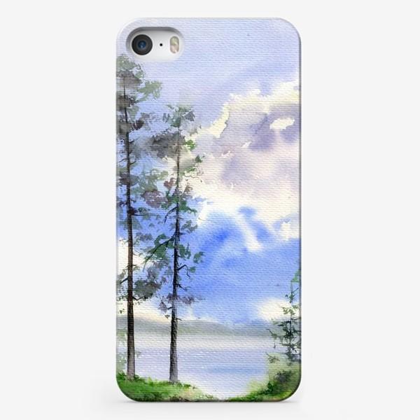 Чехол iPhone «Акварель Летний лес»
